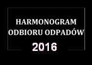 Harmonogram Odbioru Odpadów 2016